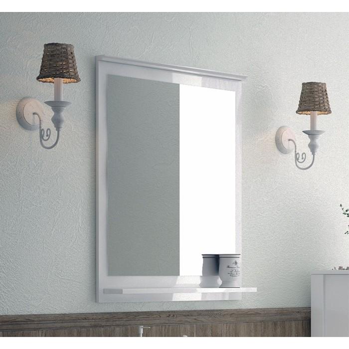 Зеркало с полкой Corozo Блюз 75 белое (SD-00000029)