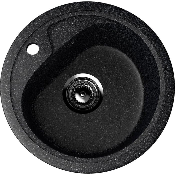 Кухонная мойка EcoStone черная (ES-10-308)