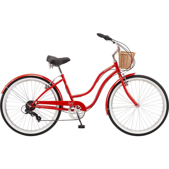 Велосипед Schwinn Mikko 7, 7 скоростей, колёса 26, цвет красный