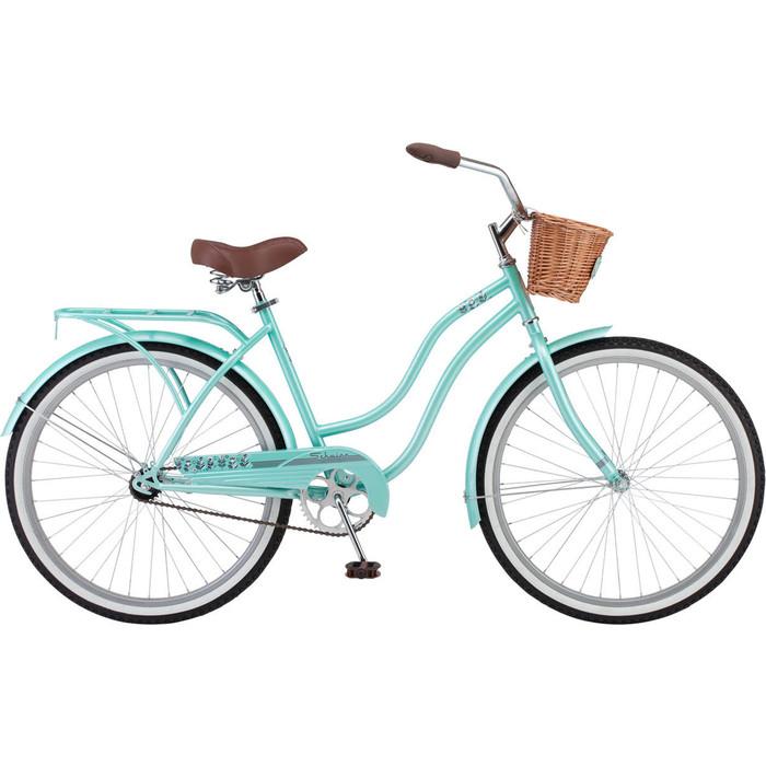 Велосипед Schwinn Talula (2019), корзинка, багажник, колёса 26, цвет мятный