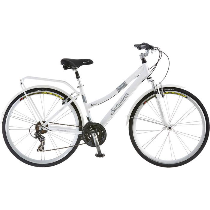Велосипед Schwinn Discover Womens (2019), 21 скорость, цвет белый