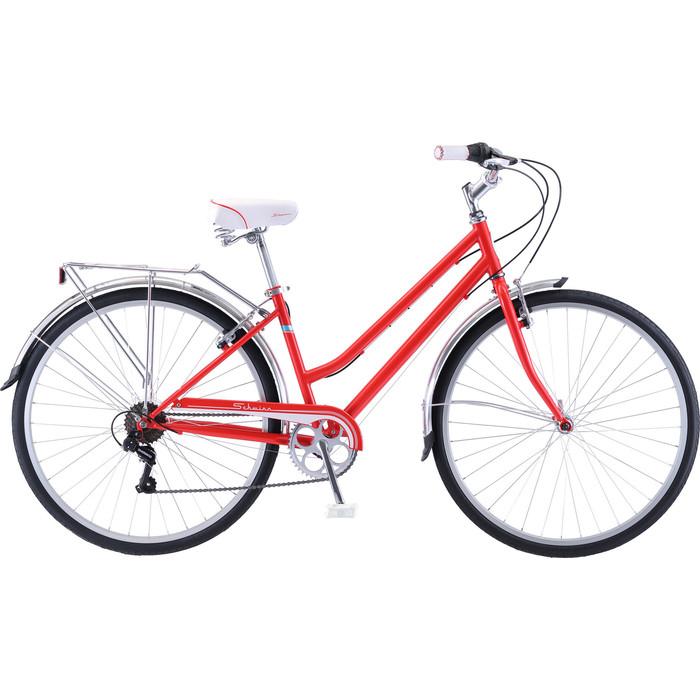 Велосипед Schwinn Wayfarer (2019), 7 скоростей, цвет красный top gear велосипед 24 mystic 110 18 скоростей белый вн24058