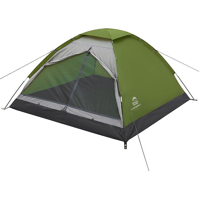 Палатка Jungle Camp двухместная Lite Dome 2, цвет- зеленый/серый цена 2017