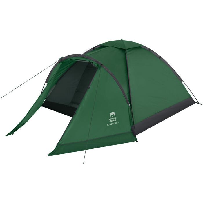 Палатка Jungle Camp трехместная Toronto 3, цвет- зеленый