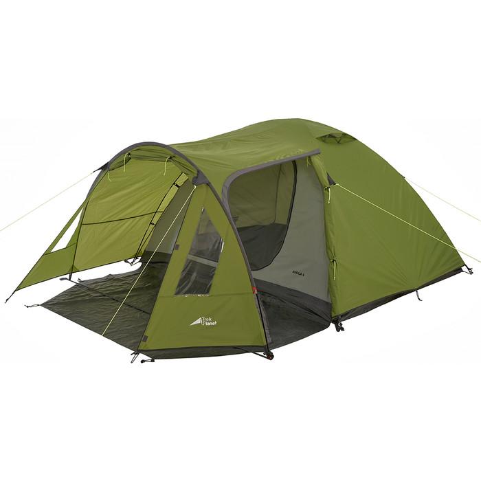 Палатка TREK PLANET трехместная Avola 3, цвет- зеленый цена 2017