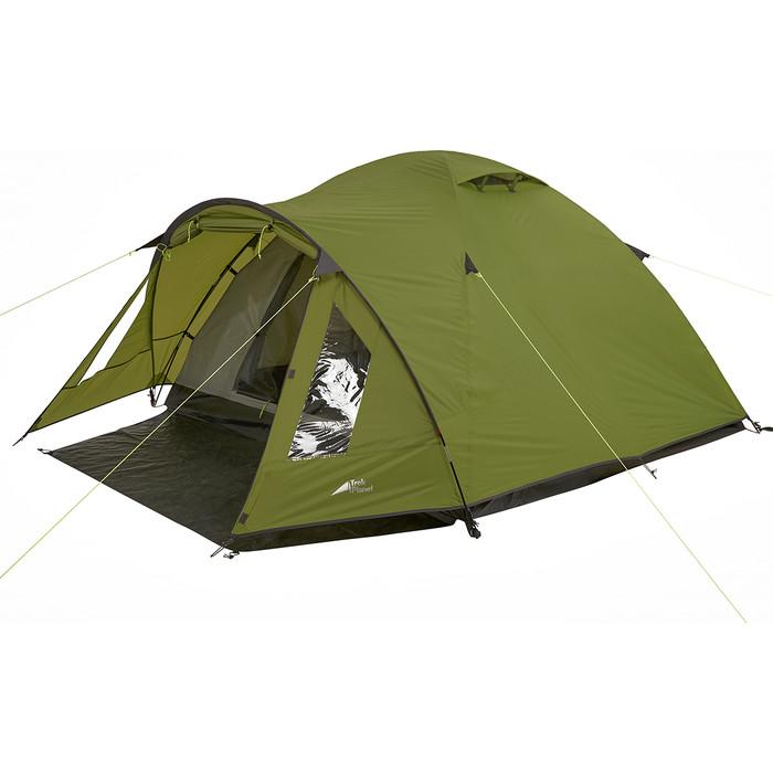 Палатка TREK PLANET трехместная Bergamo 3, цвет- зеленый цена 2017