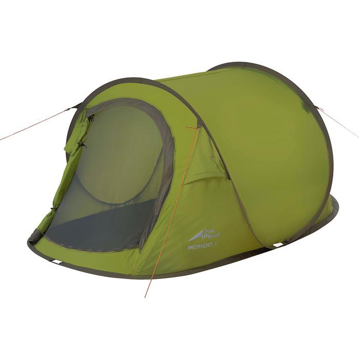 Палатка TREK PLANET трехместная Moment Plus 3, быстросборная, цвет- зеленый цена 2017