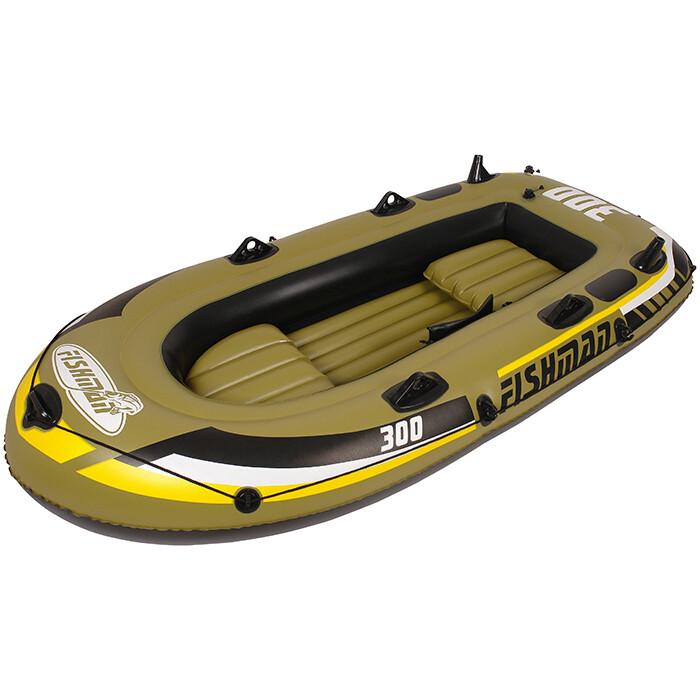 Лодка надувная Jilong FISHMAN 300SET, с веслами и насосом, 252х125х40 см