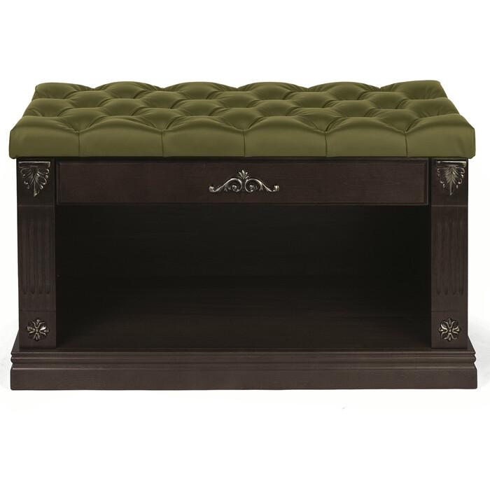 Обувница Мебелик Сильвия экокожа оливковый/венге банкетка мебелик сильвия венге оливковый