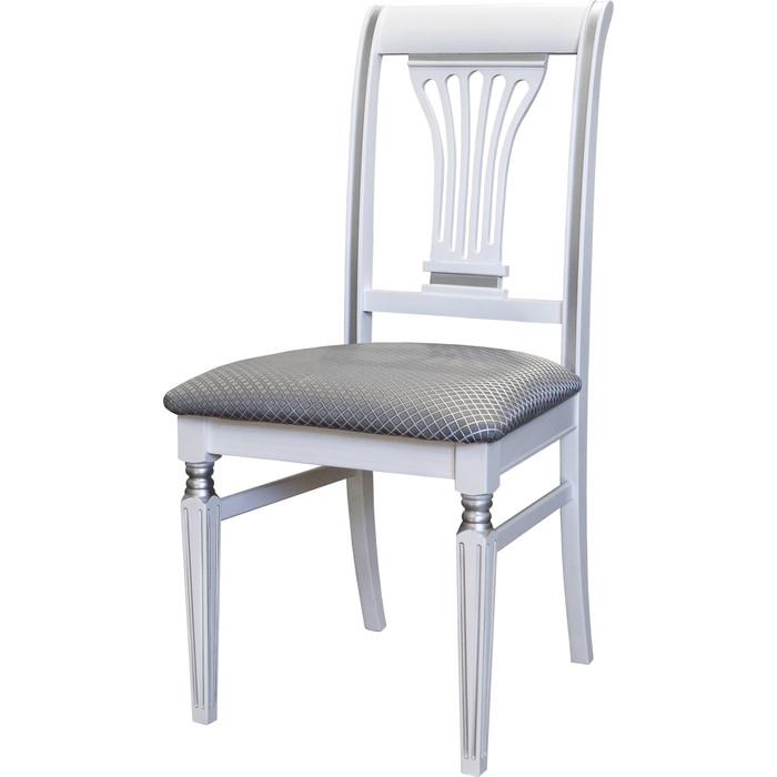 Стул Мебелик Арида белый/серебро атина серебро