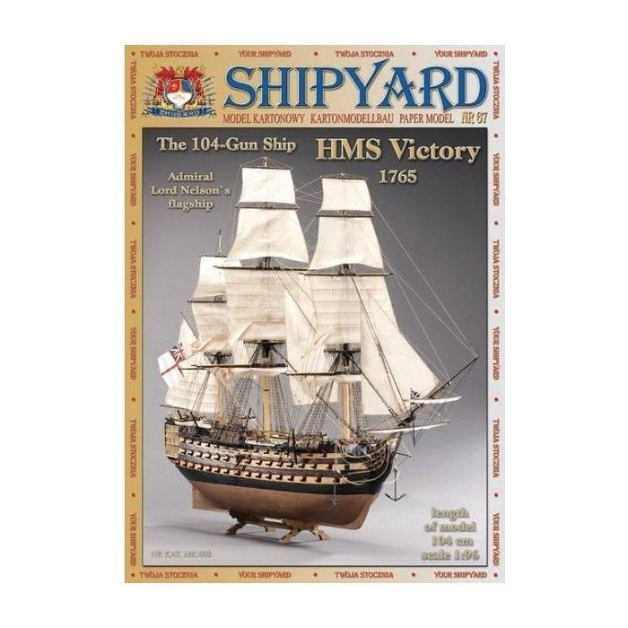 Сборная картонная модель Shipyard линкор HMS Victory (№67), 1/96