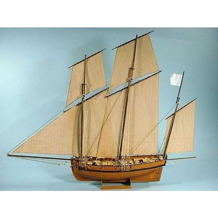 Сборная картонная модель Shipyard люгер Le Coureur (№51), 1/96