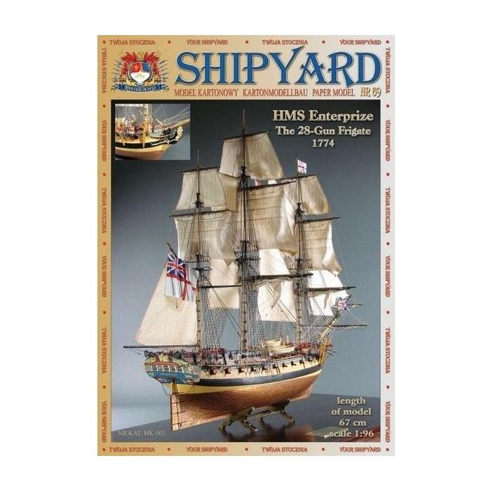 Сборная картонная модель Shipyard фрегат HMS Enterprize (№69), 1/96