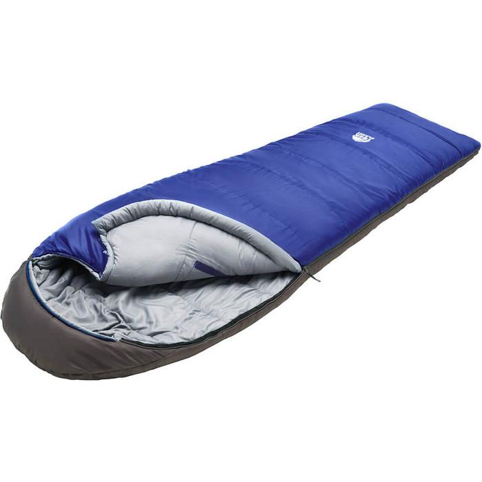 Спальный мешок TREK PLANET Breezy, кокон-одеяло, трехсезонный, правая молния, синий/серый 70358-R