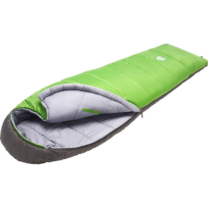 цена Спальный мешок TREK PLANET Comfy, кокон-одеяло, трехсезонный, правая молния, зеленый/серый 70364-R онлайн в 2017 году