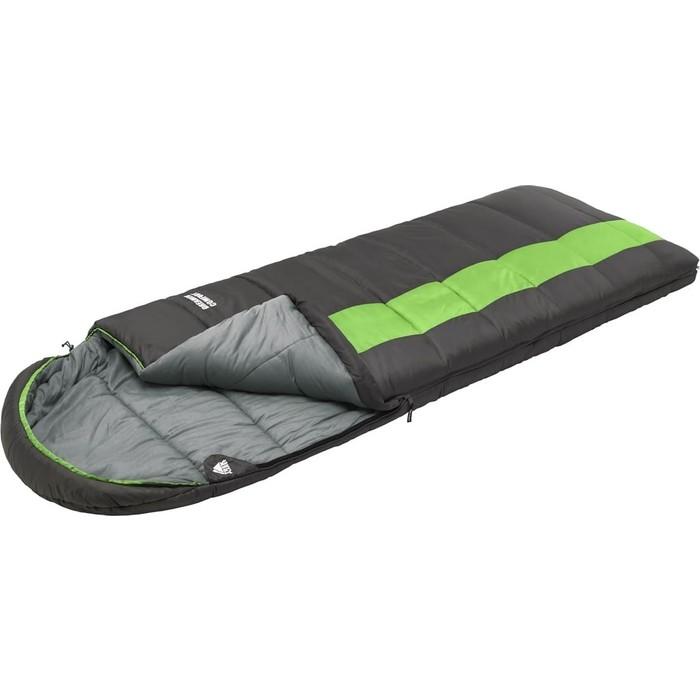 Спальный мешок TREK PLANET Dreamer Comfort, трехсезонный, правая молния, серый/зеленый 70387-R