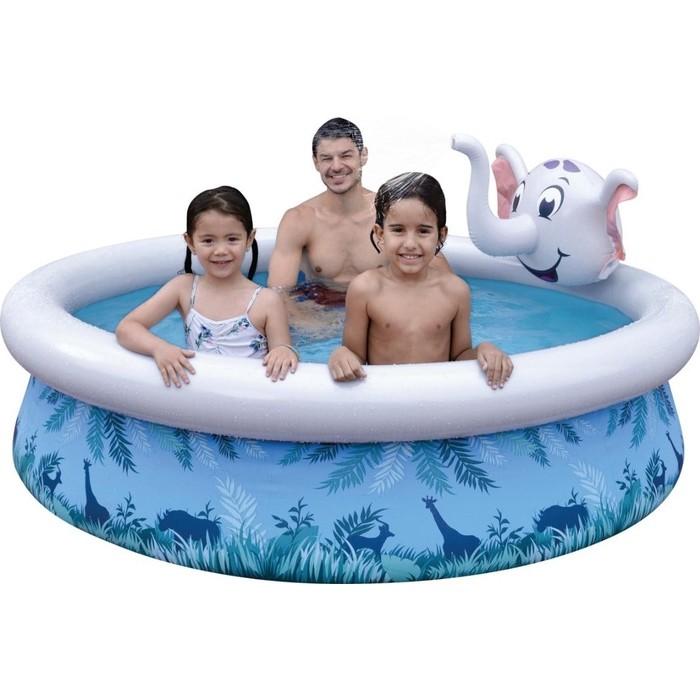 Надувной бассейн Jilong ELEPHANT 3D SPRAY, 205х47см, возраст 3+