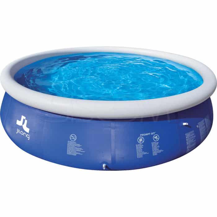 Надувной бассейн Jilong PROMPT, 240х63 см, семейный, цвет голубой + фильтр-насос (300GAL) насос ручной jilong relax inflation