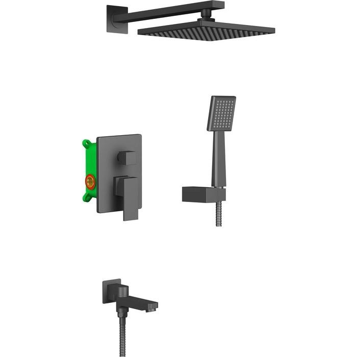 Душевая система Timo Selene встраиваемая, черная (SX-3069/03SM ) душевая система timo selene sx 2069 03sm