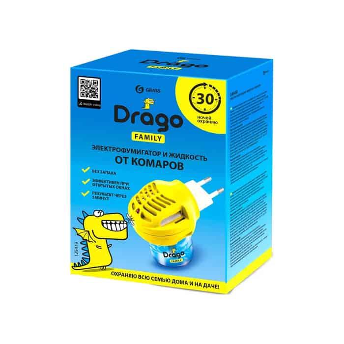 Комплект GRASS Drago электрофумигатор + жидкость от комаров 30 мл