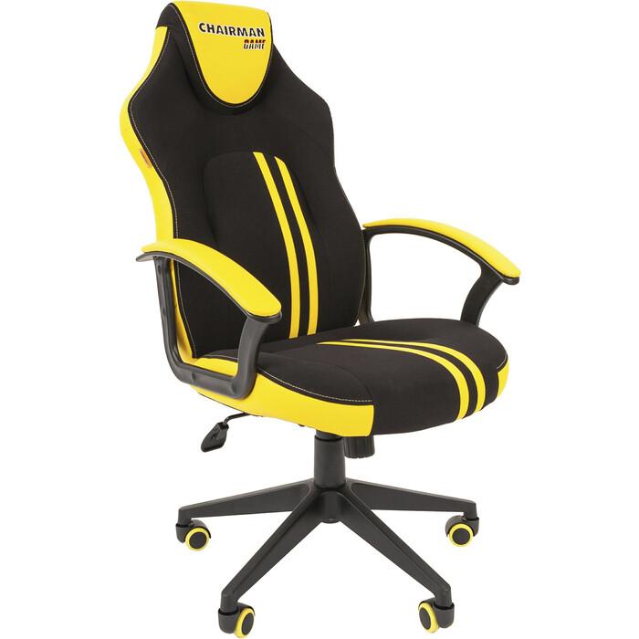 Офисноекресло Chairman Game 26 черно-желтый