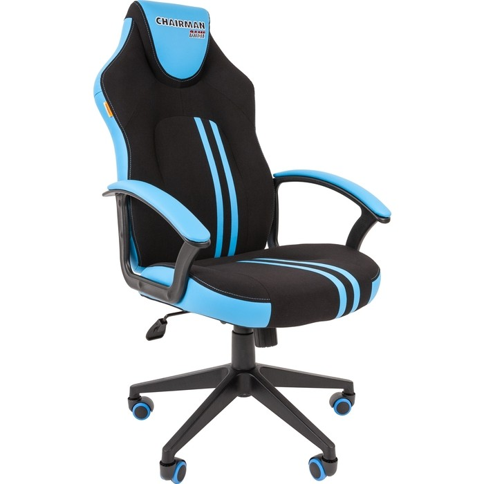 Офисноекресло Chairman Game 26 черно-голубой
