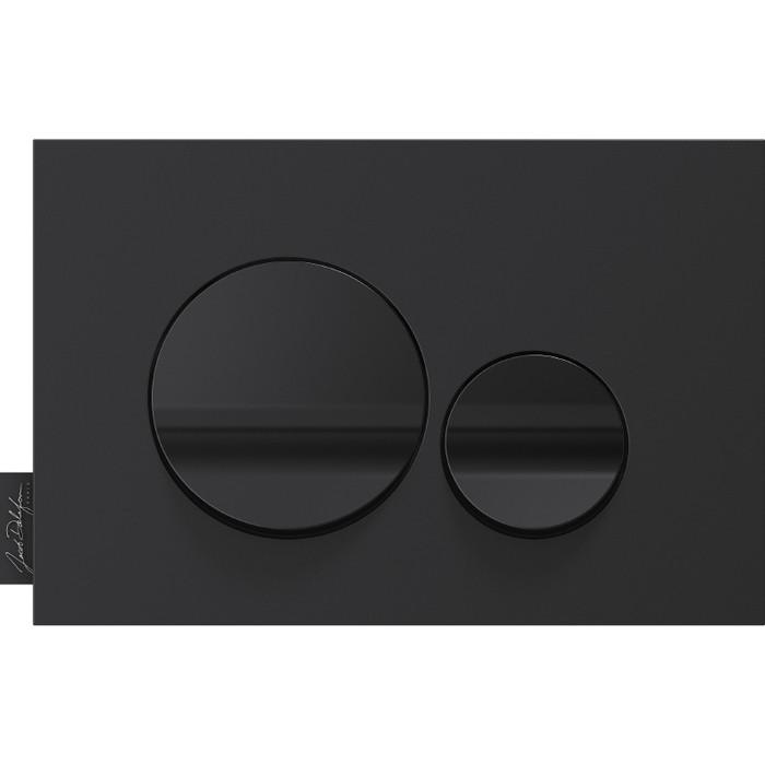 Кнопка смыва Jacob Delafon Hors Collection круглая, черная (E20859-7-BMT)