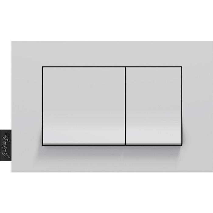 Кнопка смыва Jacob Delafon Hors Collection прямоугольная, глянцевая белая (E20858-00)