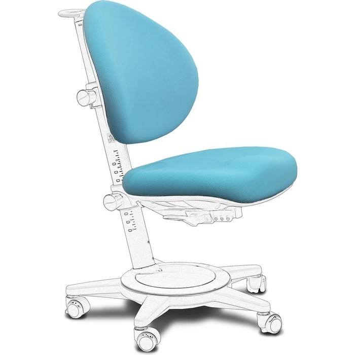 Чехол Mealux KBL ткань голубая однотонная (для кресла Cambridge/Stanford, Y-410/Y-130)