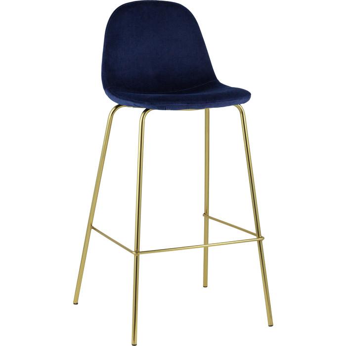 Стулбарный Stool Group Валенсия велюр синий/золотые ножки BC-91003B HLR-69 барный стул stool group стул барный лион bc 99004