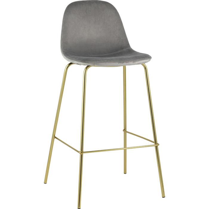 Стулбарный Stool Group Валенсия велюр серый/золотые ножки BC-91003B HLR-54 барный стул stool group стул барный лион bc 99004