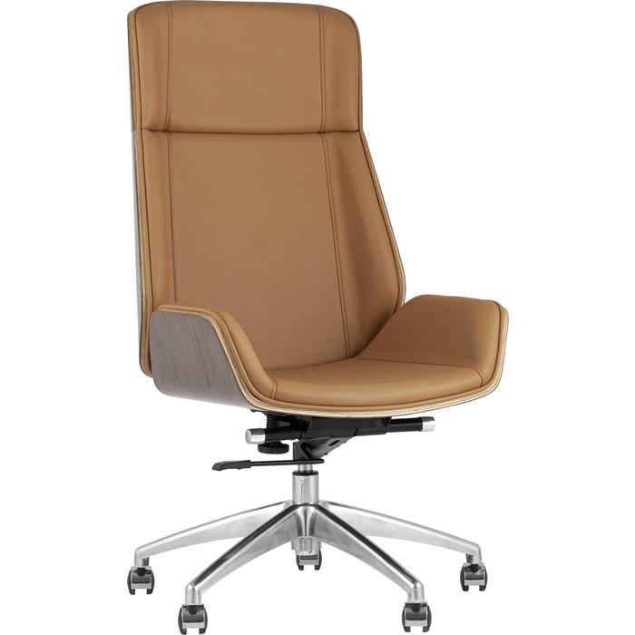 Кресло руководителя TopChairs Crown коричневое A1707 1129-10