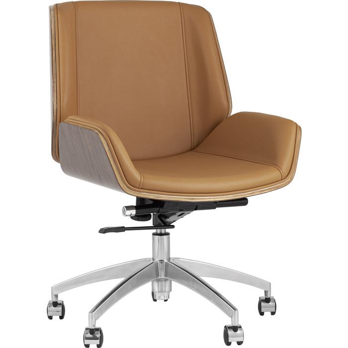 Кресло офисное TopChairs Crown коричневое B1707 1129-10
