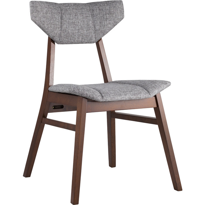 Стул обеденный Stool Group Tor массив гевеи цвет орех/сидение серое LW1903 BZ-9 grey