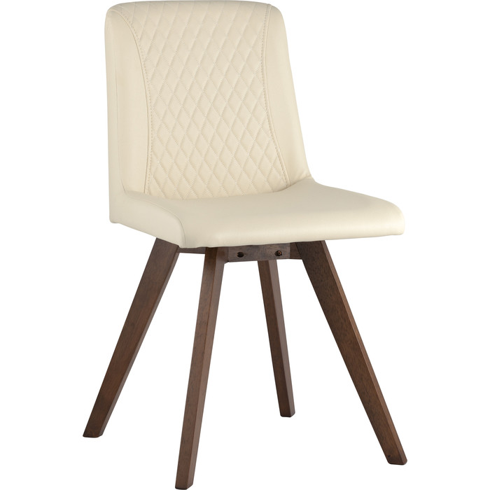 Стул обеденный Stool Group Marta массив гевеи цвет орех/сидение бежевое ПУ LW1902-G PU cream Grid