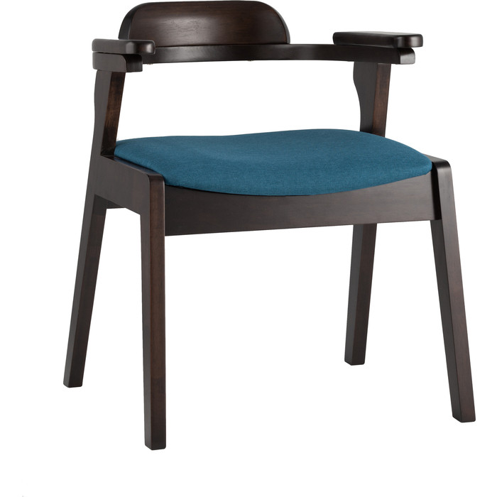 Стул обеденный Stool Group Vincent массив гевеи (эспрессо) мягкое сидение синее MH32020 APPLE-7 blue