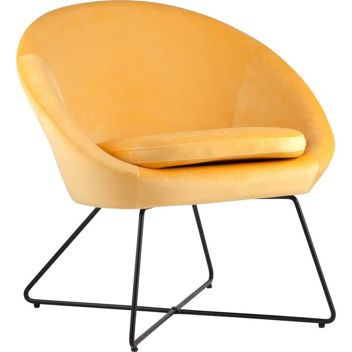 Кресло Stool Group Колумбия вельвет оранжевый Doumbia HLR-22