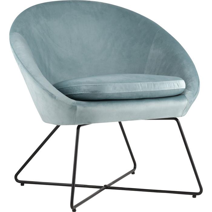 Кресло Stool Group Колумбия вельвет пыльно-голубой Doumbia HLR-60