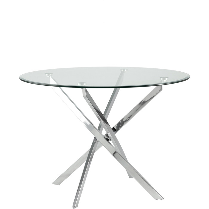 Стол круглый Stool Group Гидра 100 столешница стекло/ножки металл Z-213/100 GLASS + legs