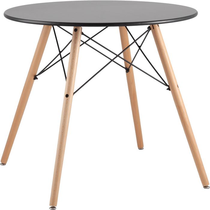 Стол круглый Stool Group Eames DSW D80 черный/деревянные ножки Chad black