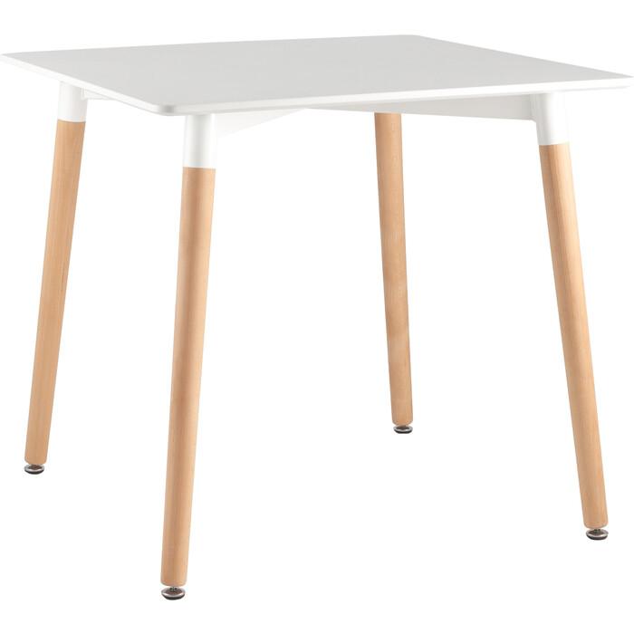 Стол квадратный Stool Group Z-208 белый/деревянные ножки