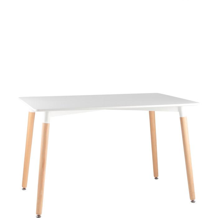 Стол обеденный Stool Group Oslo белый/деревянные ножки Z-207 прямоугольный