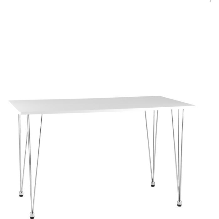 Стол обеденный Stool Group Karapiro 120 белый/хромированные ножки