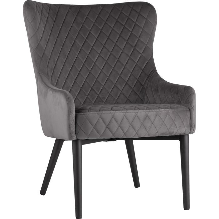 Кресло Stool Group Ститч вельвет серый MC15S-3 HLR-21