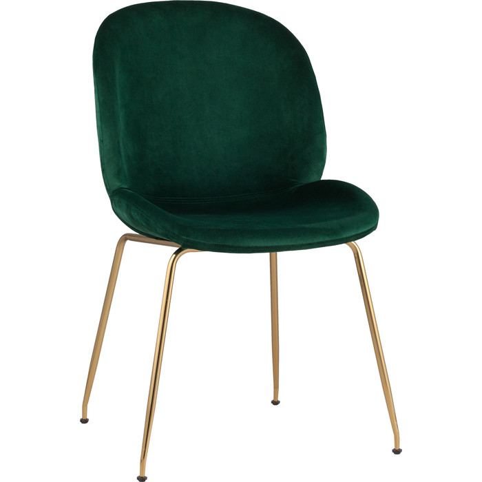 Стул Stool Group Турин бархат изумрудный/золотые ножки 8329 velvet green