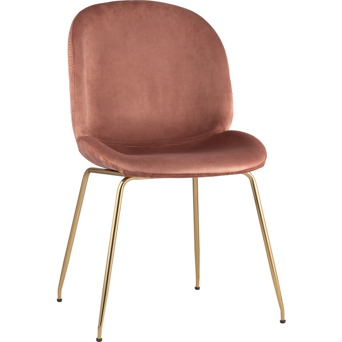 Стул Stool Group Турин бархат пудровый/золотые ножки 8329 velvet dark pink