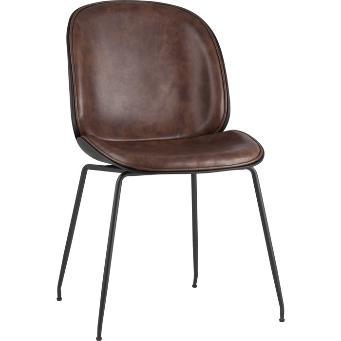 Стул Stool Group Турин коричневая экокожа/черные ножки 8329 PU brown