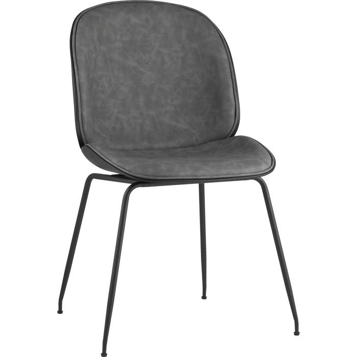 Стул Stool Group Турин серая экокожа/черные ножки 8329 PU grey