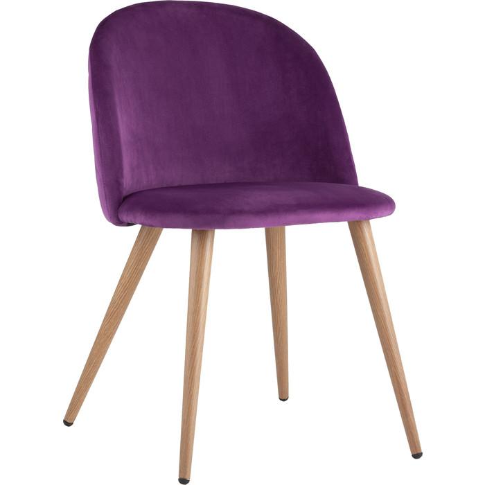 Стул Stool Group Лион вельвет с ромбами лиловый Zomba velvet purple Diamon purple velvet