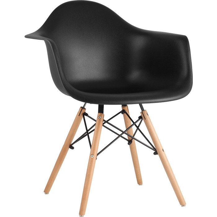 Кресло Stool Group Eames W черное 8066 black seat dual